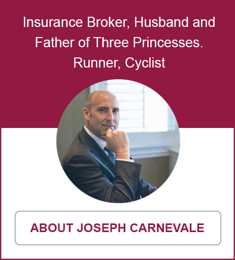 Insurance Broker, Husband and Father of Three Princesses.  Runner, Cyclist